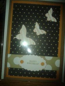 Paper pack with co-ordinating colours and patterns used for both cards.