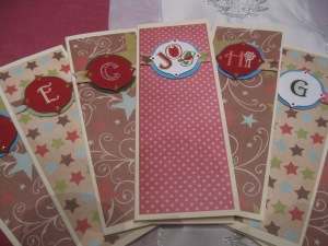 Shopping Jotters that I made into lovely notebooks.