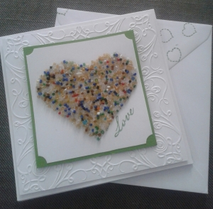 Contemporary Valentine card.