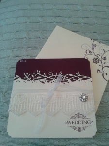 Wedding invitation - wrapped card style.