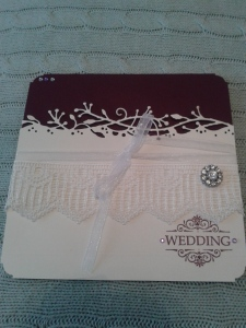 Wedding invitation with faux laser cut effect.