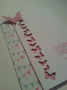 Spring pinks and party banners.