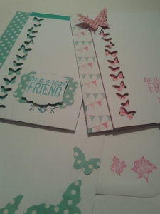 Delightful duo of crafty card makes.