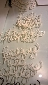 Word die cuts made using various manufacturers dies.