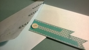 The more masculine card interior and envelope.