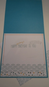 Card interior all stamped and ready :)