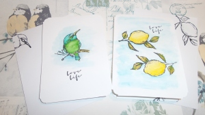 Watercolour cards: Bright and breezy.