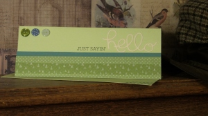 A slim line card  with die cut.
