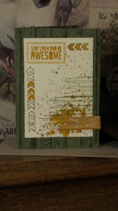 A grunge style Masculine Card.