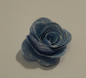 Rolled Rose using a metal Die - free gift with a magazine.