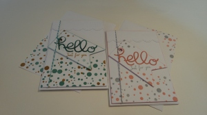 I made this card in two different colour ways.