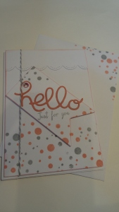 A close up of the card design.