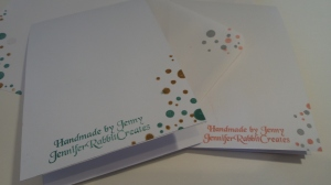 Coordinating envelopes.