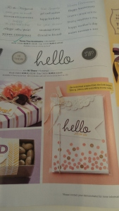 Inspiration from the 2014 Stampin' Up! calendar.