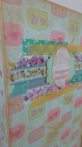 I used a selection of washi  tapes as banners, to create a focal point for the front main panel.