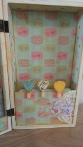 Wooden heart pegs for grouping items together.