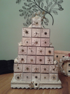 The completed tower for Advent.