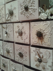 Drawer pulls using Antique Brads by Stampin' Up!