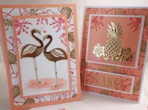 Two different styles of cards using the same products.