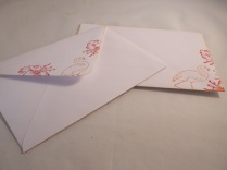 Co-ordinating envelopes for a professional finish.