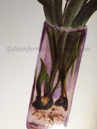 The vase is coated with Glossy Accents to look like glass.