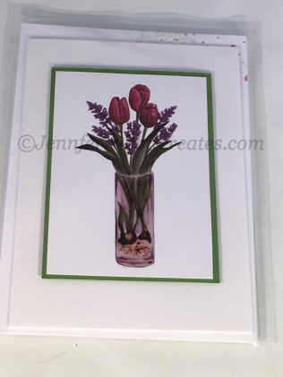 Glossy Accents was used over the vase to create a glass effect.
