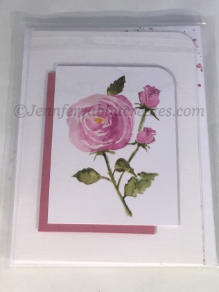 A coordinating panel and a touch of shimmer were added to create this card.